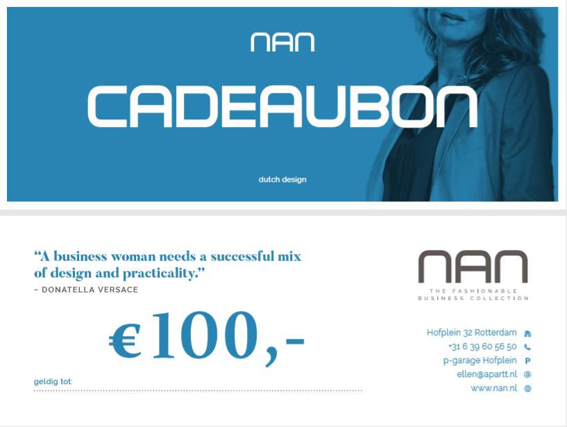 NAN cadeaubon 100 euro