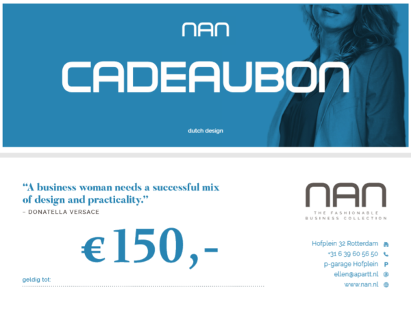 NAN cadeaubon 150 euro