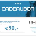 NAN cadeaubon t.w.v. 50 euro