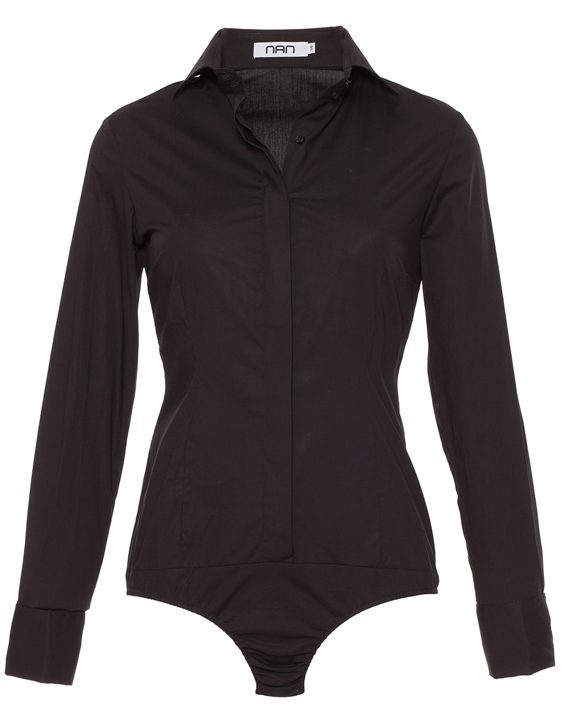 Dames bodyblouse zwart