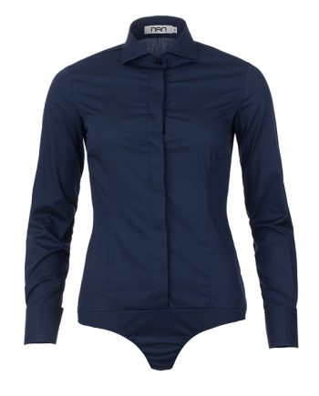 dames bodyblouse donkerblauw