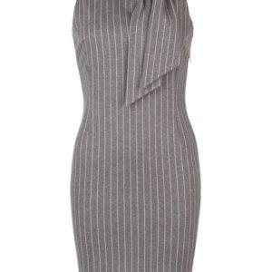zakelijke jurk krijtstreep grijs