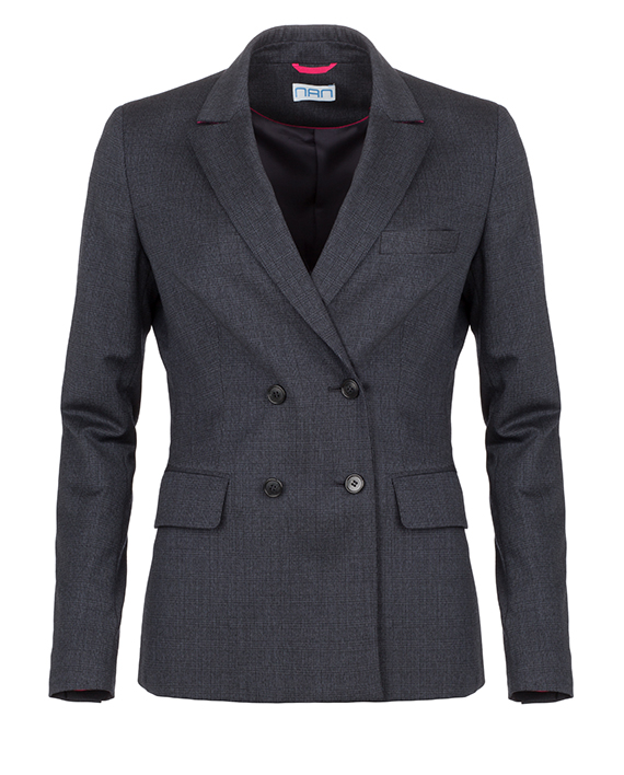 Double breasted blazer met ruitje