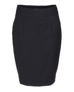 Maxima donkerblauw krijtstreep dames rok voorkant