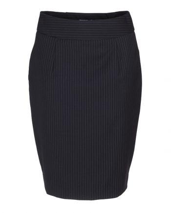 donkerblauw krijtstreep dames rok