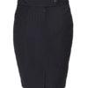 Maxima donkerblauw krijtstreep dames rok achterkant