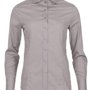 dames blouse grijs met enkele knoop