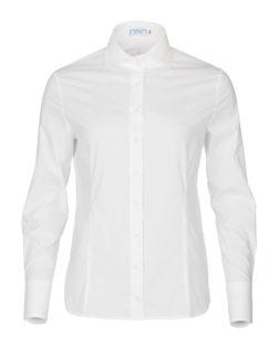Dames blouse wit met enkele knoop