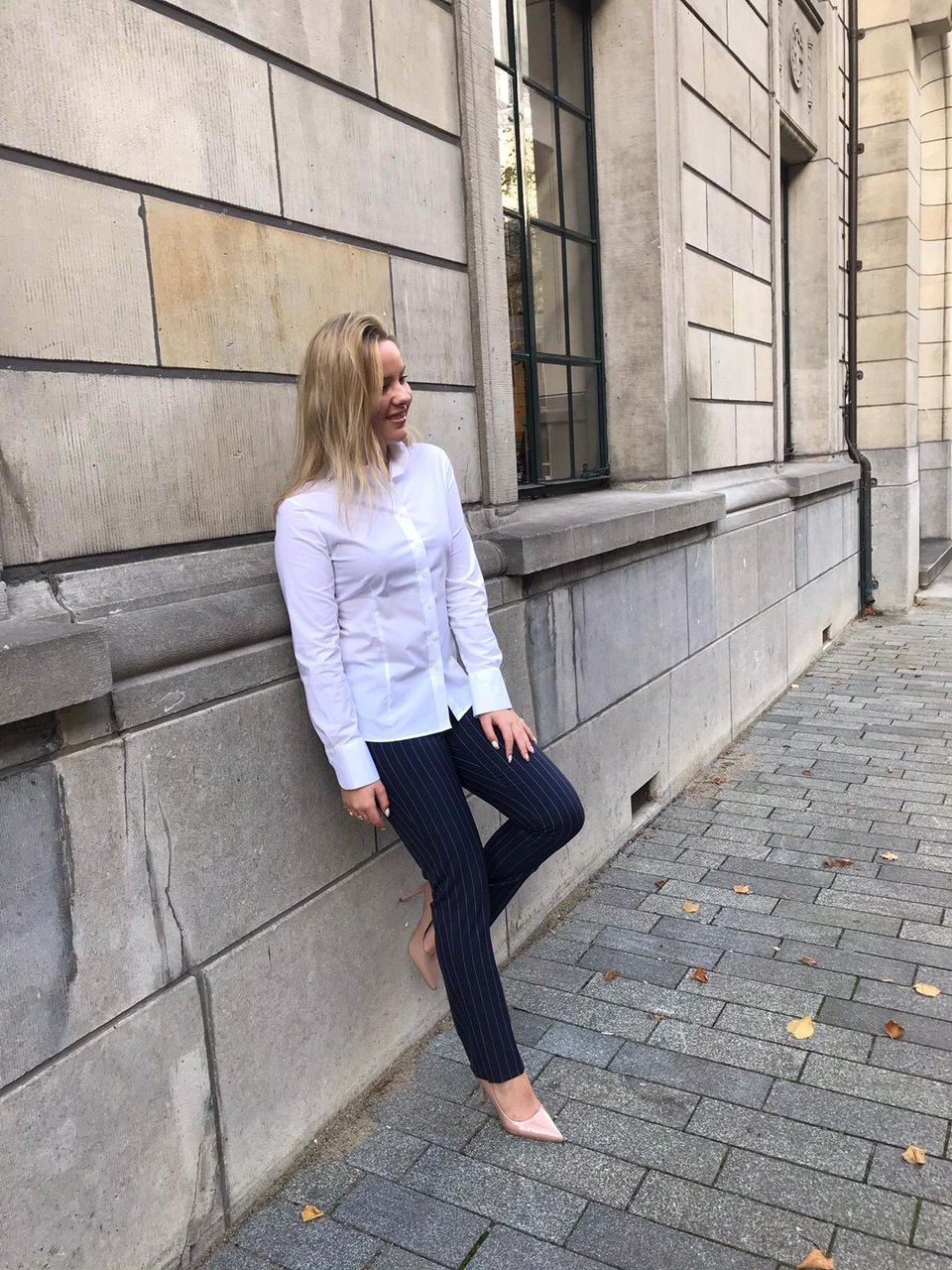 witte dames blouse