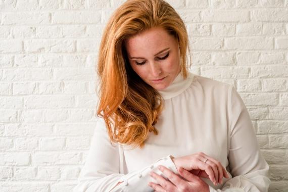 off-white zakelijke blouse ICON