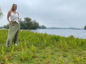 NAN maxi skirt green