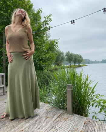 NAN summer skirt maxi green