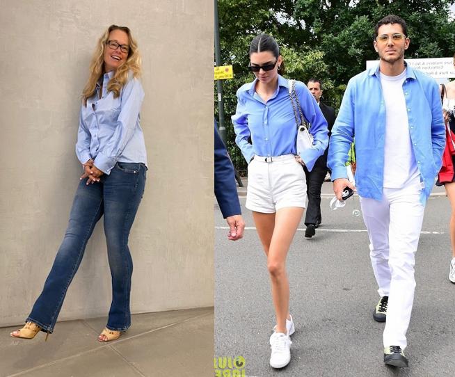 NAN blauwe blouse